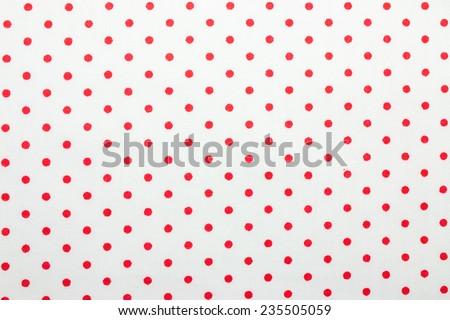 red polka dot fabric - stock photo