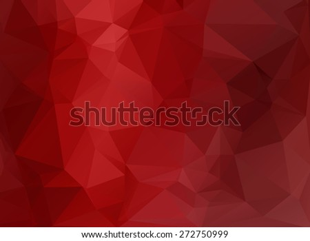 red polygonal background - stock photo