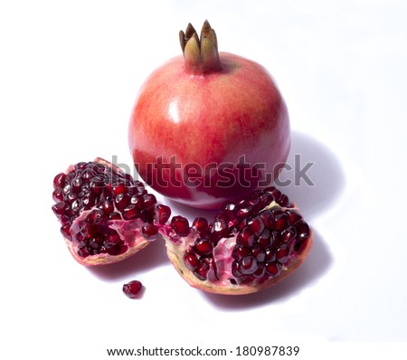 red pomegranate with seeds