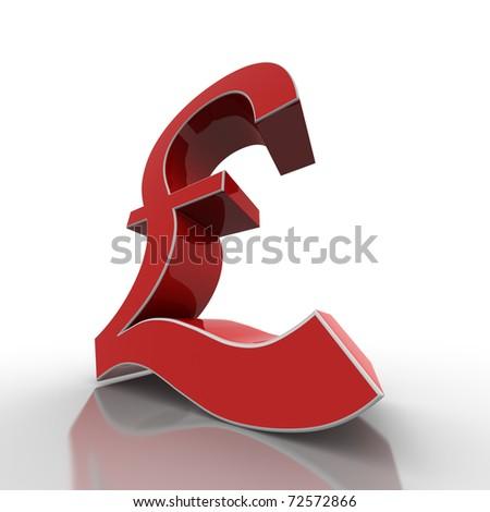 red pound - stock photo