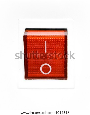Red Power Switch - OFF - stock photo