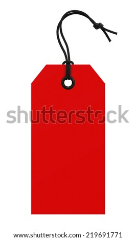 red price tag - stock photo