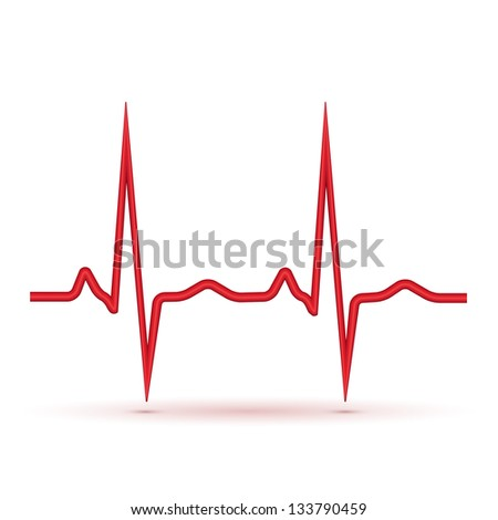 red pulse isolated - stock photo