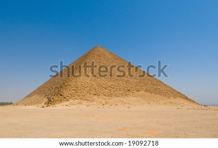Red pyramid at Dahshur, Cairo, Egypt