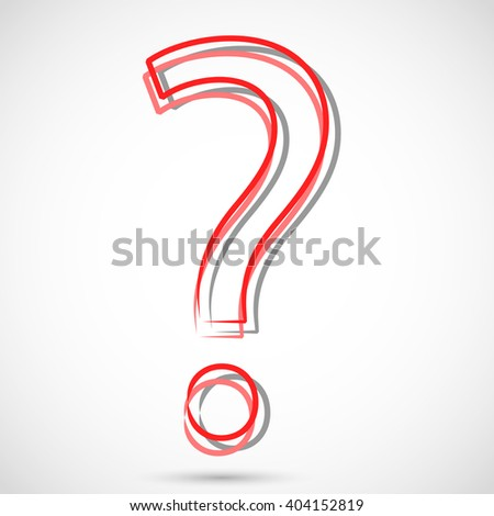 Red Question - stock photo