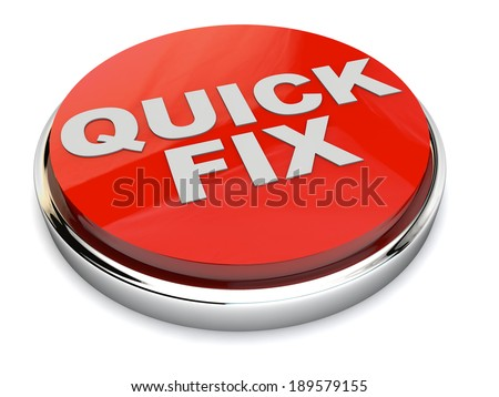 Red Quick Fix Button over white Background - stock photo