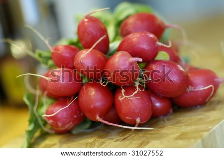 red radish - stock photo