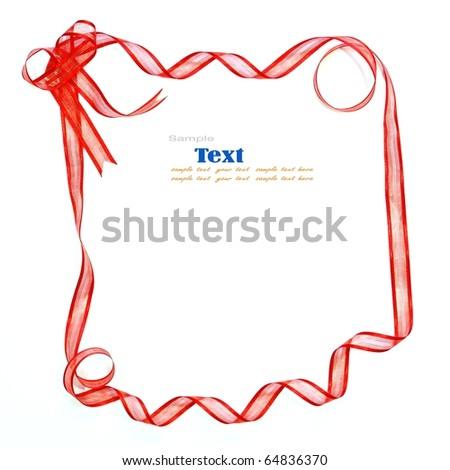 red ribbon - stock photo