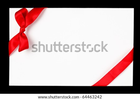 Red ribbon and bow - stock photo