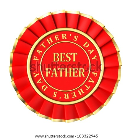 Red ribbon Award best father