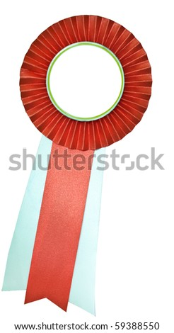 Red ribbon isolate on white - stock photo