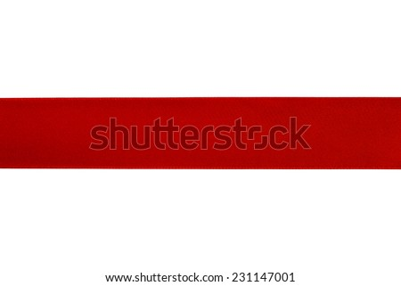 Red ribbon isolated - stock photo