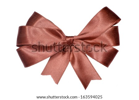 Red ribbon isolated on white background.