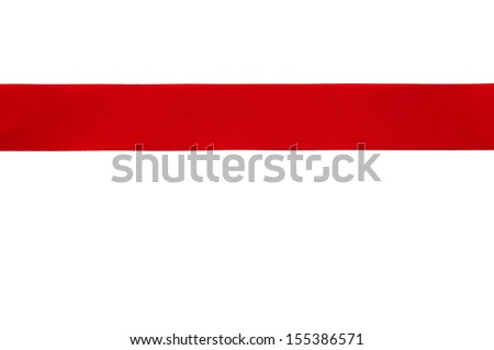 Red ribbon used to wrap gifts for festivals