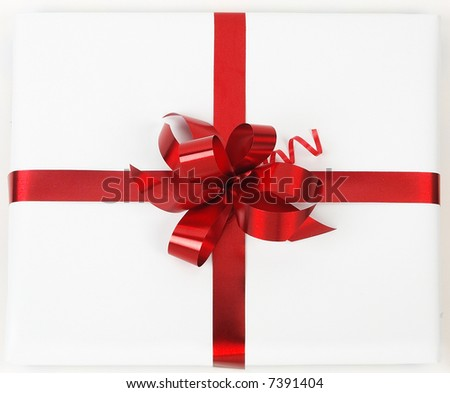 red ribbon with clipping path