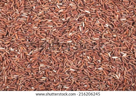 red rice food background texture