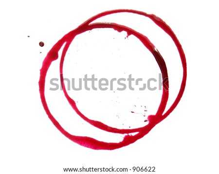 red ring stain - stock photo