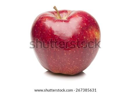 Red ripe apple - stock photo
