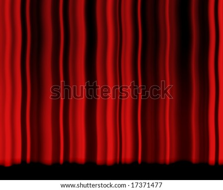 Red rippled curtain