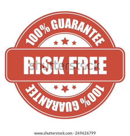 red risk free sticker, tag, sign, icon, label isolated on white - stock photo