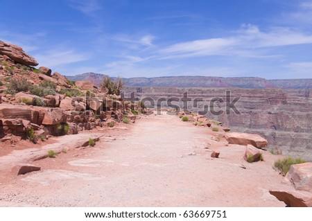 Red Rock at Guano point, Colradro River, Grand Canyon, Arizona, USA - stock photo
