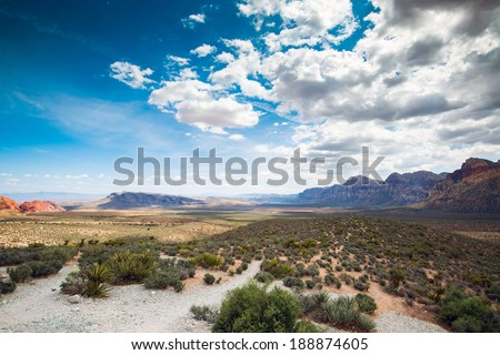 Red Rock Canyon. - stock photo