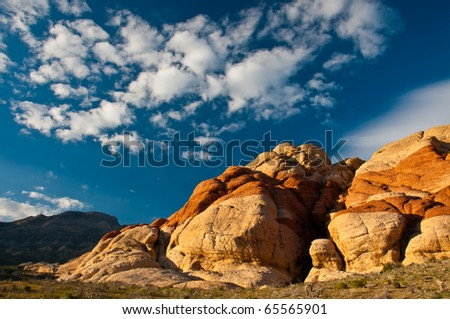 Red Rock Canyon Colors - stock photo