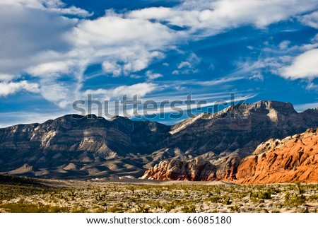 Red Rock Canyon, Las Vegas - stock photo