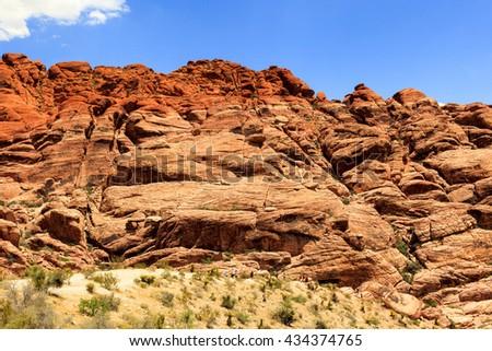 Red Rock Canyon Las Vegas Nevada  - stock photo