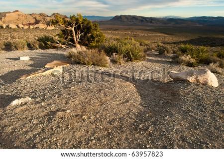 Red Rock Canyon Views - stock photo