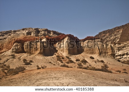 Red Rock formation from Red Rock Canyon State Park in California