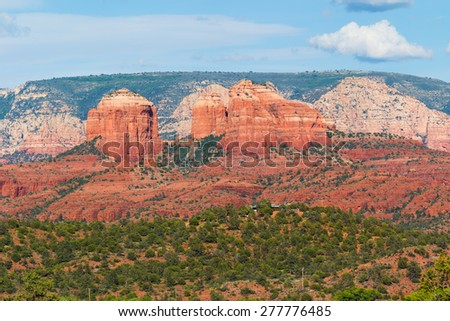 Red Rock Formation of Sedona AZ - stock photo