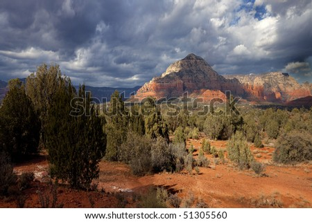 Red Rock Formations, Sedona - stock photo