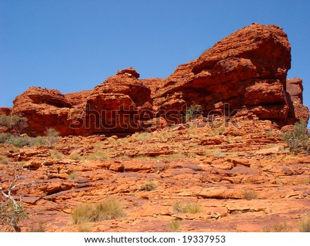 Red Rock -Kings Canyon-Australia - stock photo