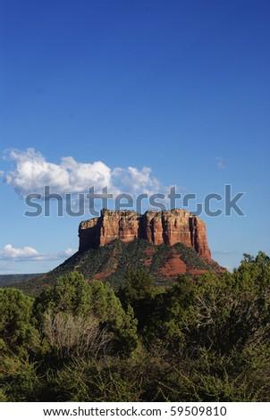 Red Rock Mesa in Sedona Arizona by Grand Canyon - stock photo