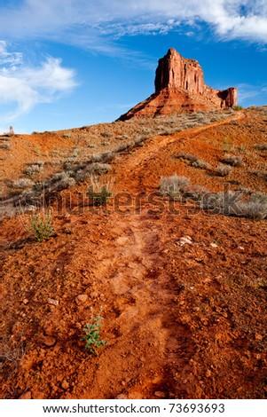 Red Rock Path - Moab, Utah - stock photo