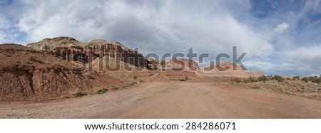 Red Rock southwest Panorama - stock photo