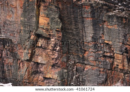 red rock wall background - stock photo