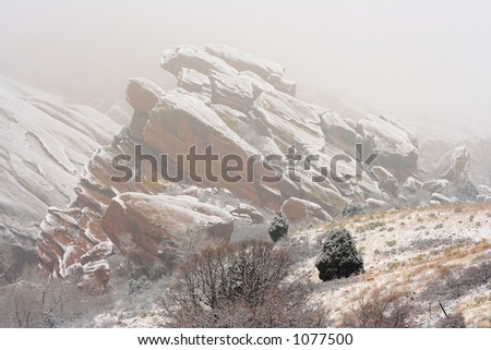 Red Rocks, Colorado - stock photo