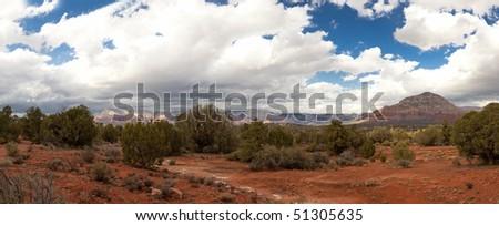 Red Rocks. Desert. Arizona - stock photo