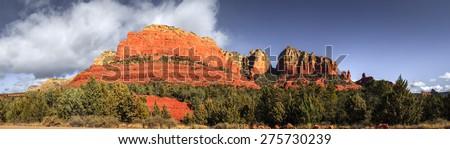 Red Rocks formations in Sedona, Arizona - stock photo