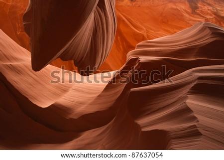 Red Rocks in the Desert - stock photo