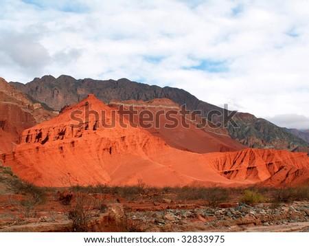 Red rocks near Cafayate, Argentina - stock photo