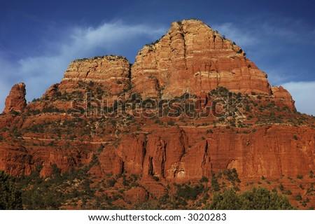 Red rocks near Chapel of the Holy Cross, Sedona, Arizona - stock photo