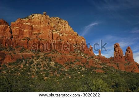 Red rocks near the Chapel of the Holy Cross, Sedona, Arizona - stock photo