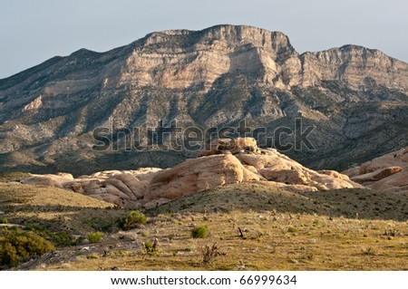 Red Rocky Canyon Scenic Area, Las Vegas, Nevada - stock photo