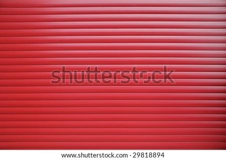 red roller shutter texture - stock photo
