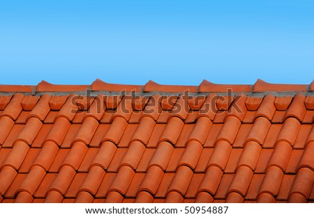 Red roof - stock photo