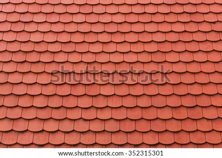 red roof tiles background - stock photo