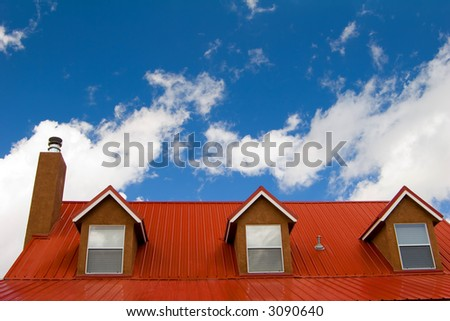 red roof under the sky